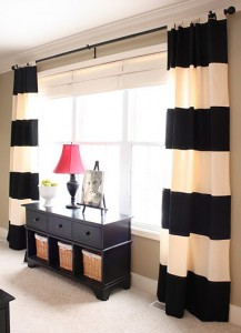 black-white-stripes-striped-curtain-fabric-window-decoration