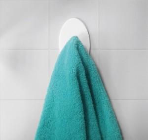 Gancho Adesivo Oval_com toalha_alta