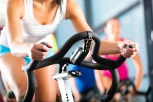 Woman-on-exercise-bike